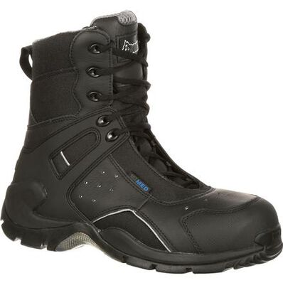 Rocky 1st Med Carbon Fiber Toe Puncture-Resistant Side-Zip Waterproof Public Service Boot, , large