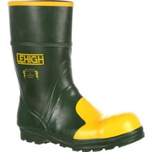 Lehigh Safety Shoes Unisex Steel Toe Rubber Hydroshock Waterproof Dielectric Work Boot