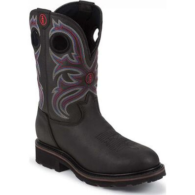 Tony Lama 3R Steel Toe Waterproof Western Work Boot, , large