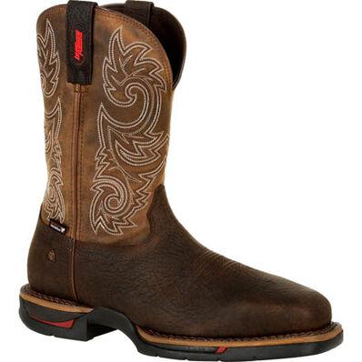 Rocky Long Range Steel Toe Waterproof Western Boot, , large