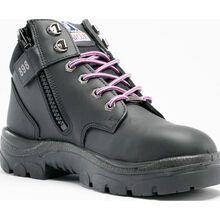 Steel Blue Parkes Zip Women's 5 inch Steel Toe Side Zip Leather Work Boot