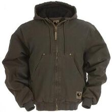 Berne Olive Quilt-Lined Original-Washed Hooded Jacket