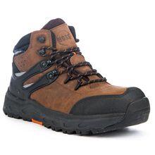 HOSS Stomp Men's 6 inch Aluminum Toe Electrical Hazard Waterproof Leather Work Hiker