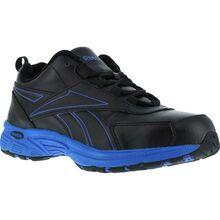 Reebok Ateron Men's Black Blue Steel Toe Work Athletic Shoe