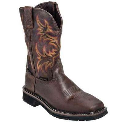 Justin Work Stampede Steel Toe Western Boot, , large