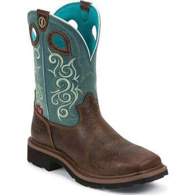 Tony Lama 3R Women's Composite Toe Waterproof Western Work Boot, , large