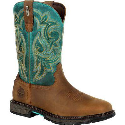 Georgia Boot Carbo-Tec LT Women's Steel Toe Waterproof Pull-On Boot, , large