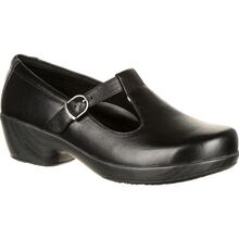 4Eursole Comfort 4Ever Women's Black T-Strap Shoe