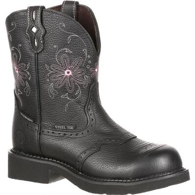 Justin Work Women's Steel Toe Western Waterproof Work Boot, , large