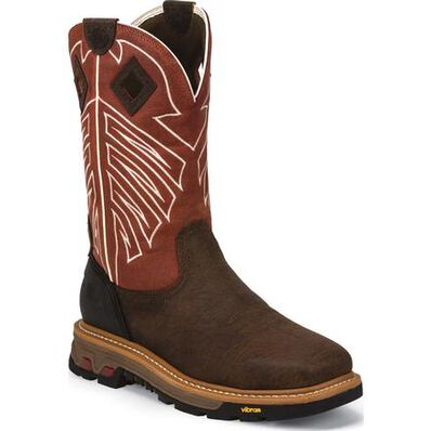 Justin Original Workboots Commander-X5 Steel Toe Waterproof Pull-On Work Boot, , large