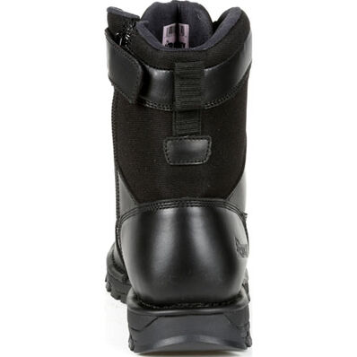 "Rocky Portland 8"" Black Side Zip Waterproof Public Service Boot, , large"