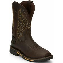 Justin Original Work Hybred Joist Rustic Barnwood Men's Composite Toe Waterproof Western Work Boot