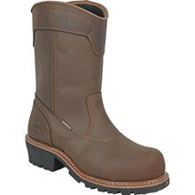 HOSS Aspen Logger Men's Composite Toe Electrical Hazard Puncture-Resisting Waterproof Pull-on Boot