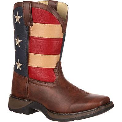 LIL' DURANGO® Kid's Patriotic Western Flag Boot, , large