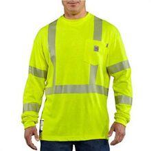 Carhartt Flame-Resistant High-Visibility Long-Sleeve T-Shirt Class 3