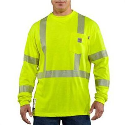 Carhartt Flame-Resistant High-Visibility Long-Sleeve T-Shirt Class 3, , large