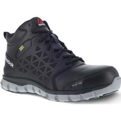 Reebok Sublite Cushion Work Women's Alloy Toe Internal Met Guard Electrical Hazard Mid Work Athletic Shoe, , large