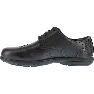Florsheim Work Loedin Men's Steel Toe Static-Dissipative Black Dress Wingtip Oxford, , large