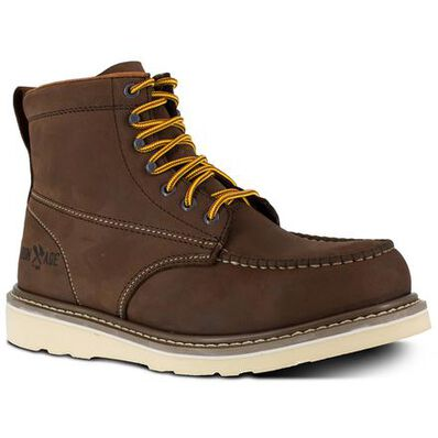 Iron Age Reinforcer Men's Steel Moc Toe Electrical Hazard Leather Work Boot, , large