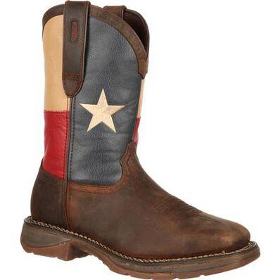 Rebel™ by Durango® Steel Toe Texas Flag Western Boot, , large