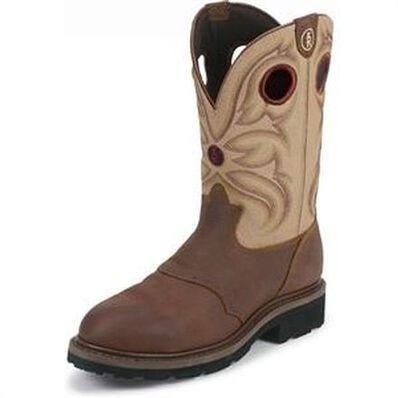 Tony Lama Work Sienna Grizzly 3R Steel Toe Waterproof Western Boot, , large