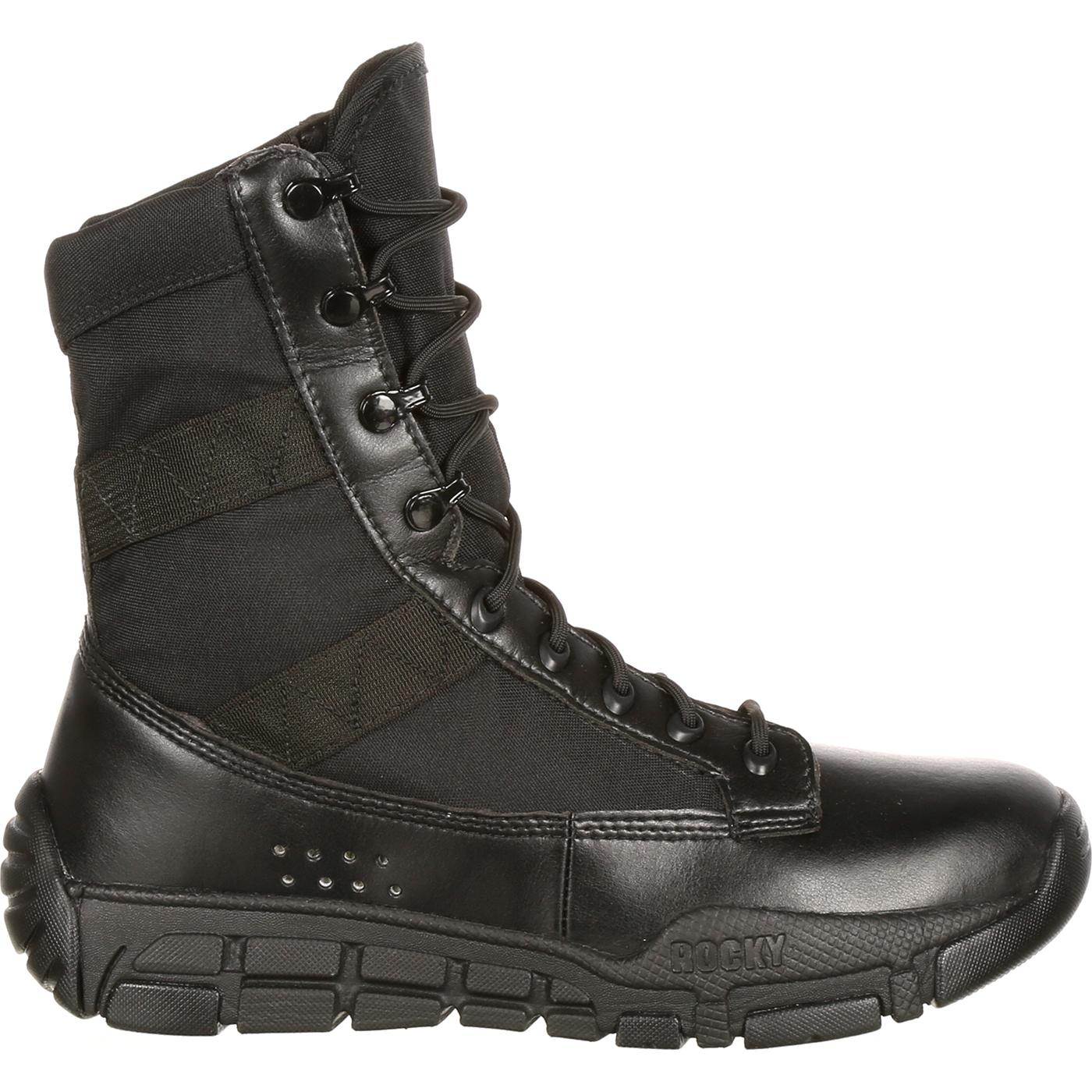 Men s Military Inspired Black Duty Boots a174398ce380