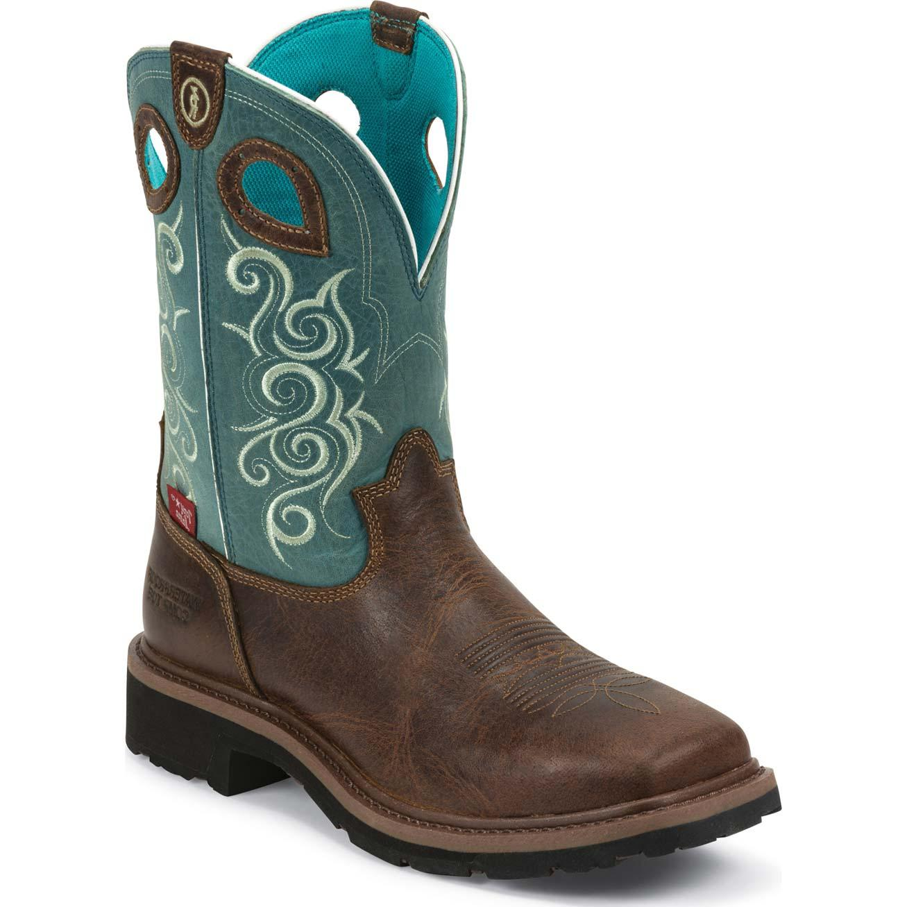 Tony Lama 3r Women S Composite Toe Waterproof Western Work