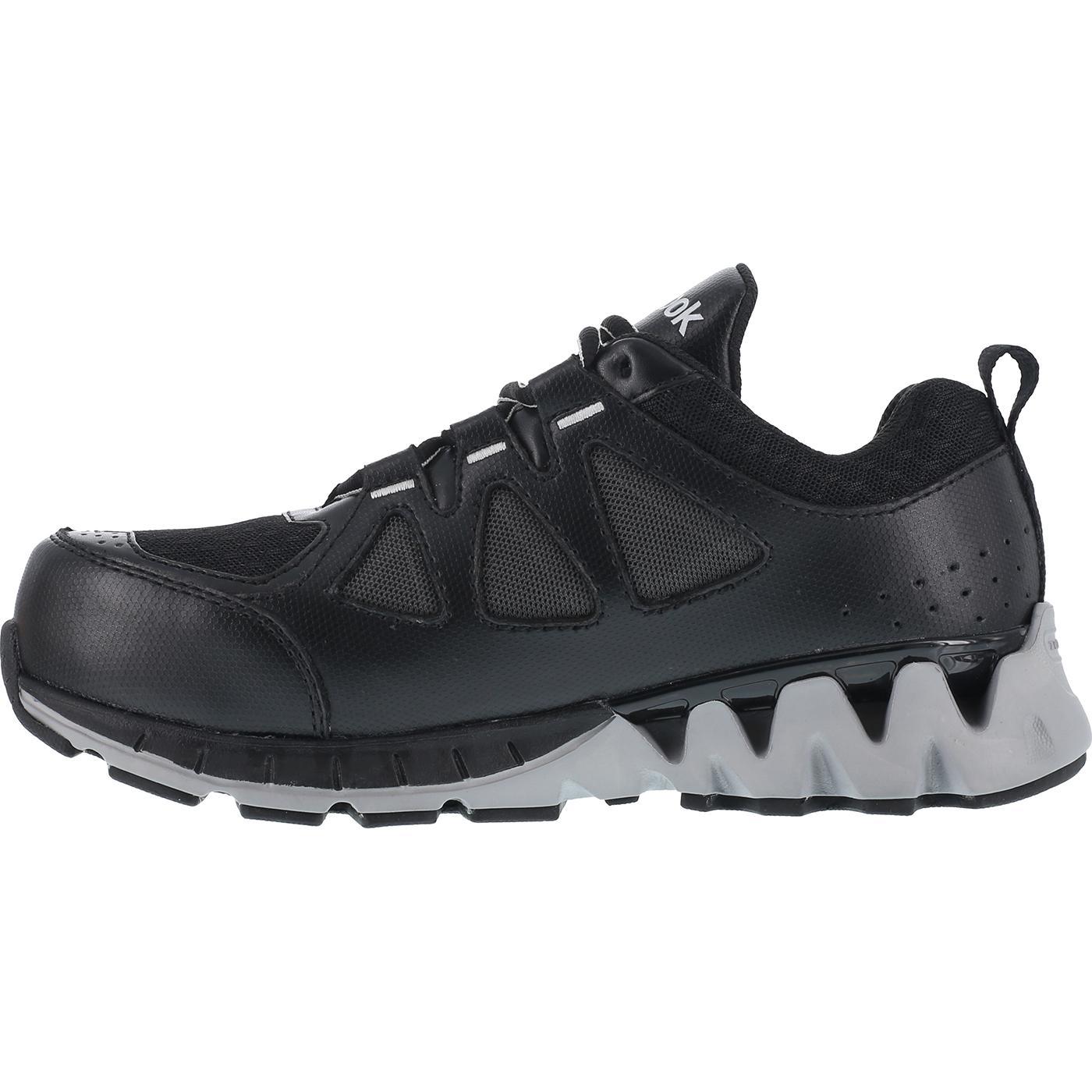 Reebok Zigkick Work Women s Composite Toe Black Gray Sneaker 9086a383b
