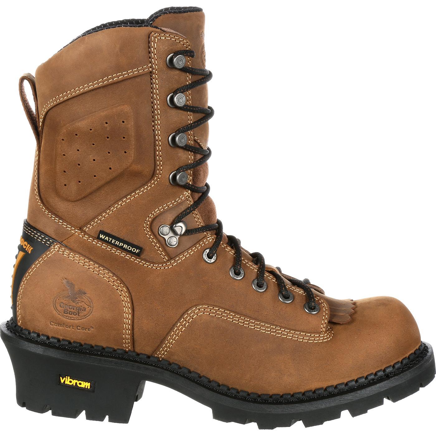 0b173e607c7 Georgia Boot Comfort Core Logger Composite Toe Waterproof Work Boot