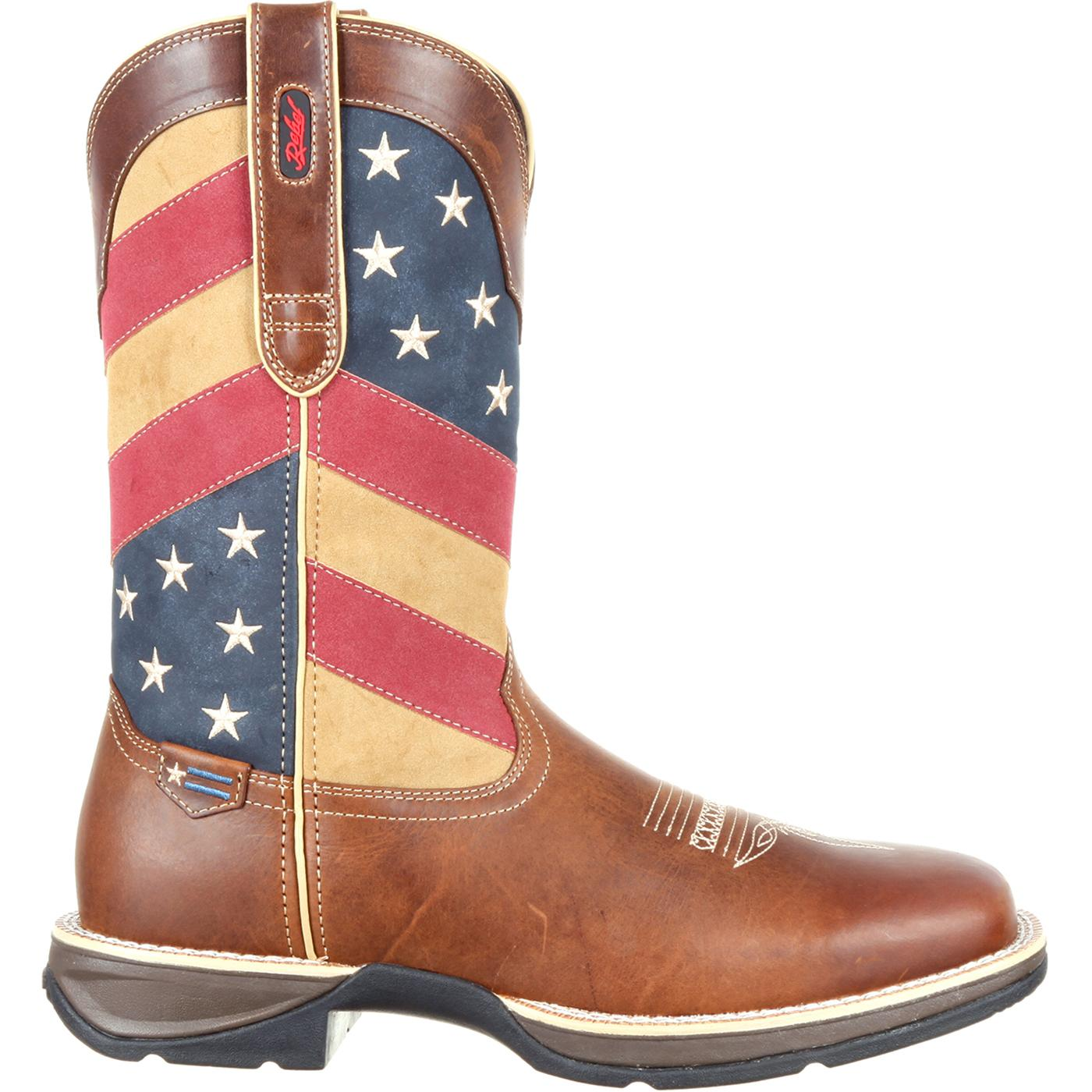 48a5707e909 Rebel by Durango Patriotic Pull-On Western Flag Boot