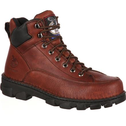 Georgia Boot Eagle Light Wide Load Steel Toe Work Hiker, , large