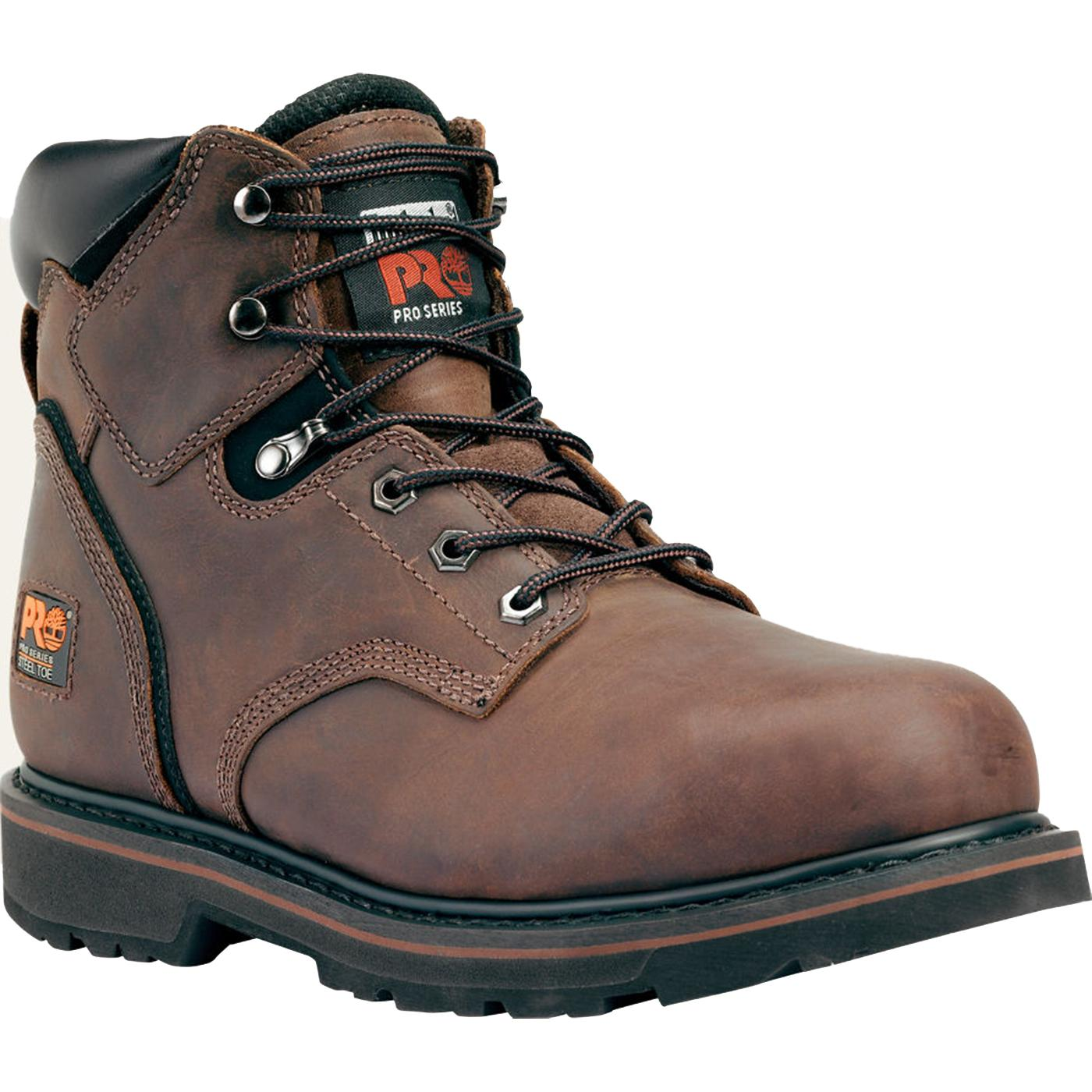 Used Timberland pro series steel toe work boots for sale in