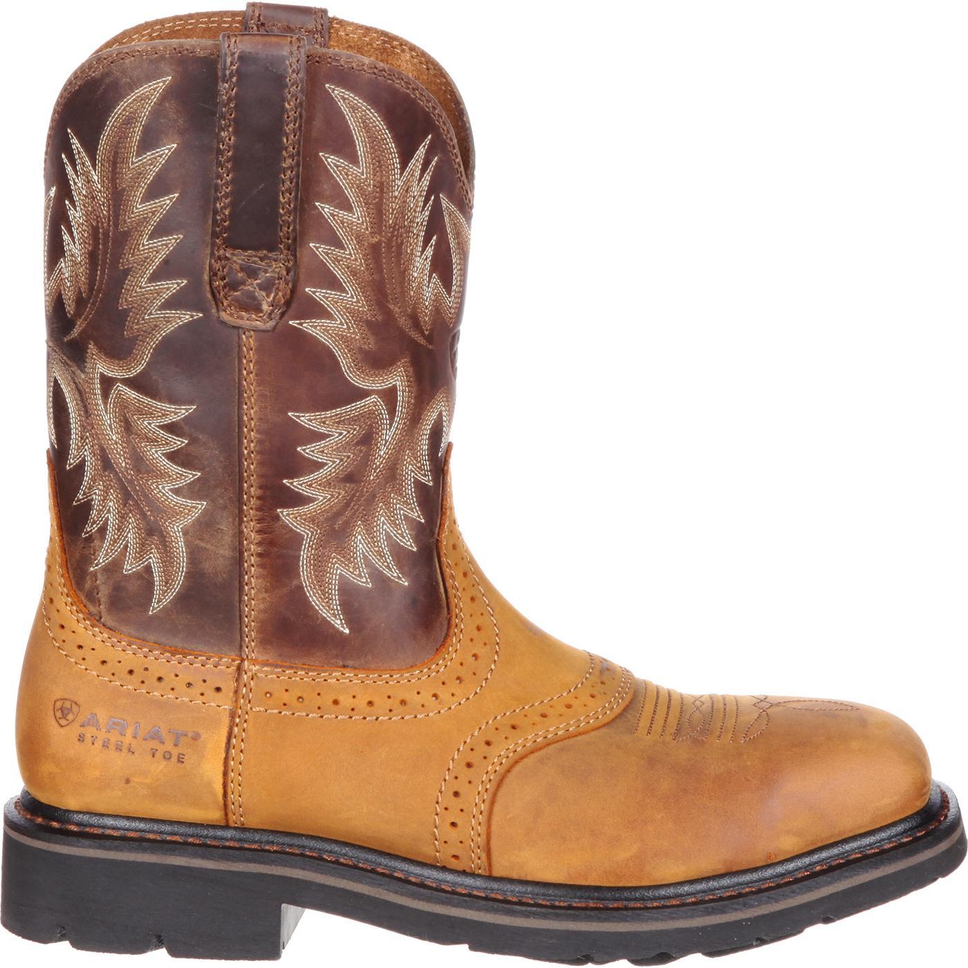f3fbfa77178 Ariat Sierra Wide Square Steel Toe Western Work Boot