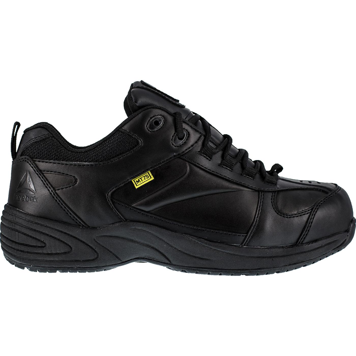f36d01006f52c8 Black Athletic Reebok Composite Toe Met Guard Work Shoe