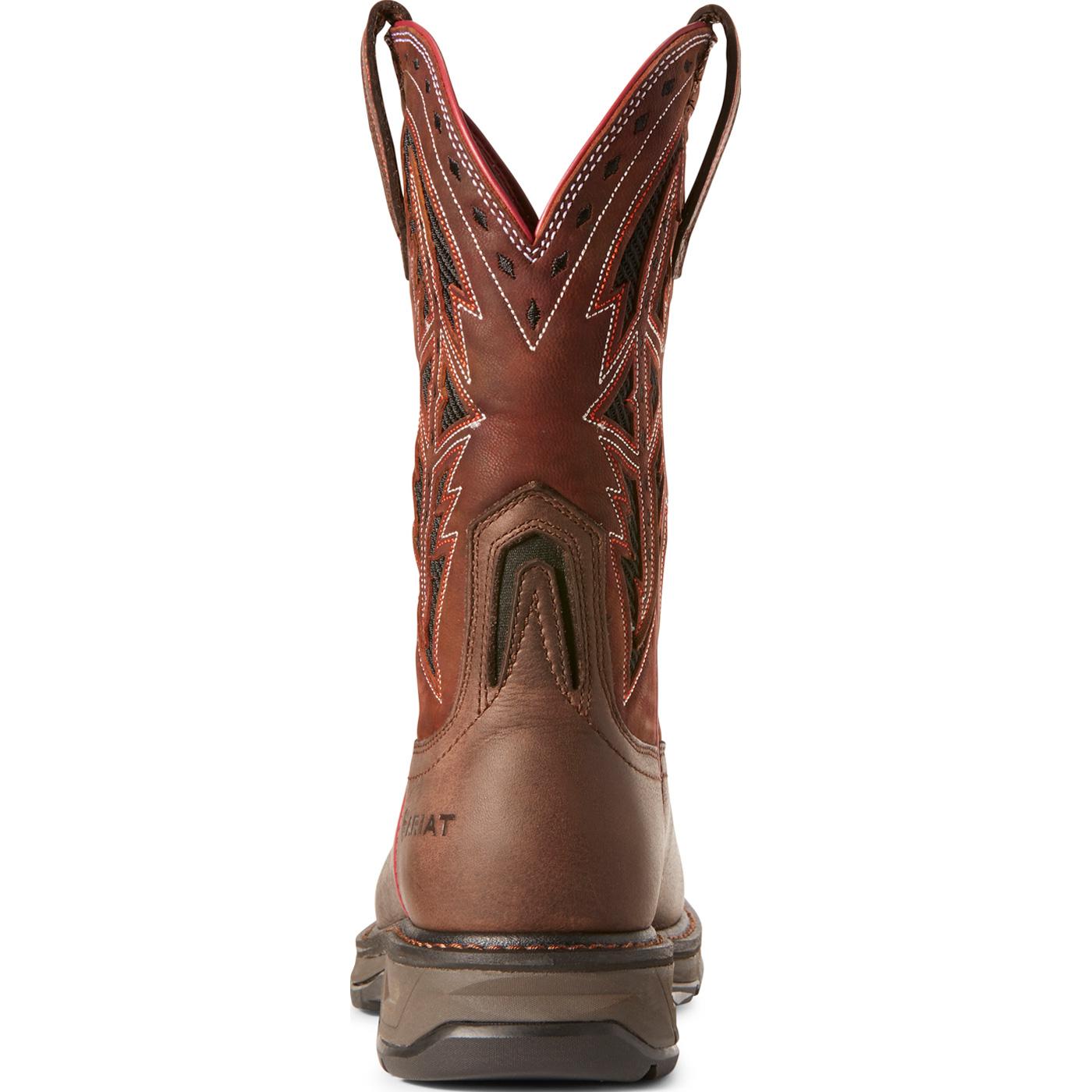 44338bed490 Ariat WorkHog XT Spear Men's 11 inch Carbon Fiber Toe Electrical Hazard  Western Work Boot