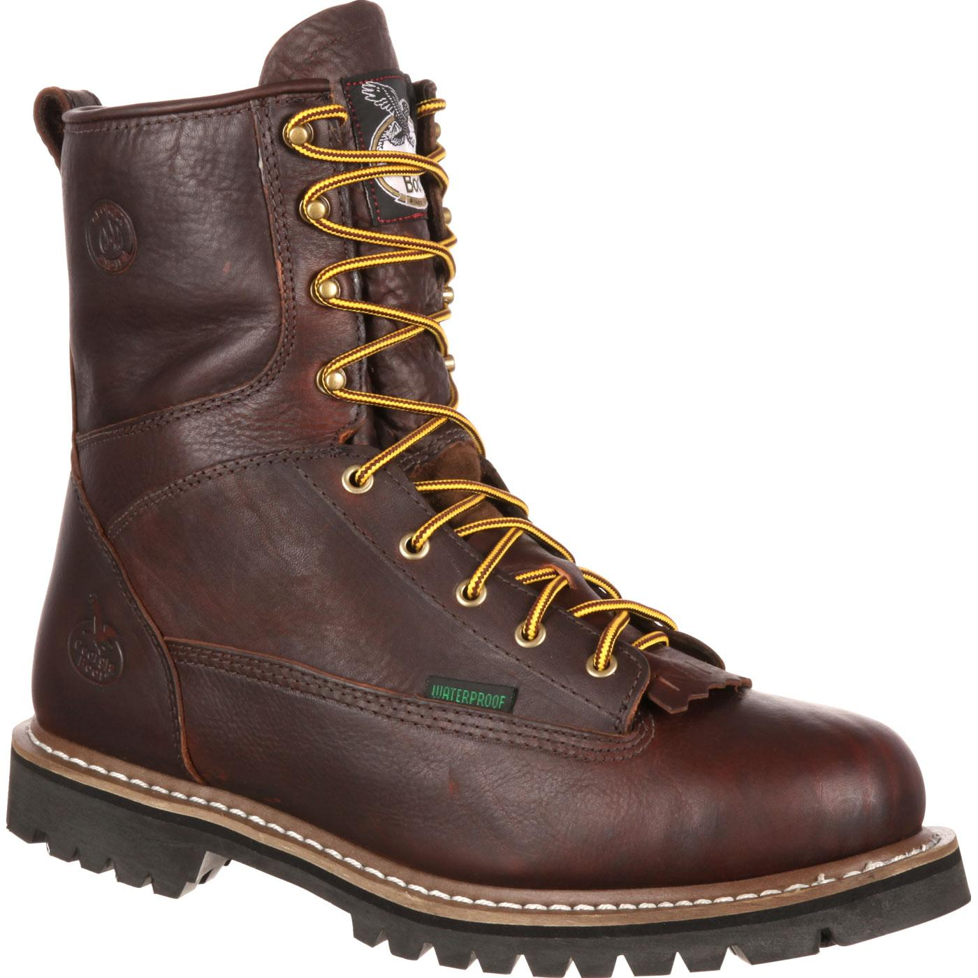 83ee3121d8a Georgia Boot Waterproof Lace-To-Toe Work Boot
