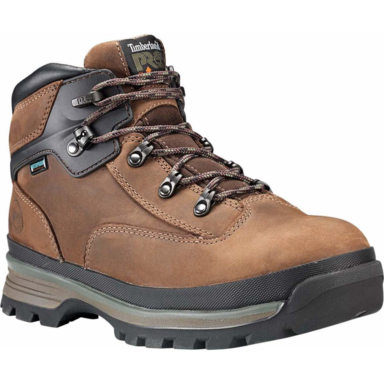 timberland pro new euro hiker brown safety boots