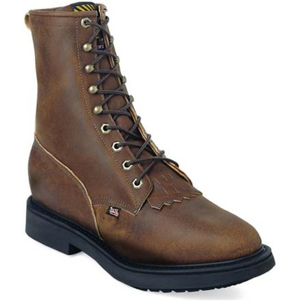 Justin Work Conductor Double Comfort Lacer Western Work Boot, , large