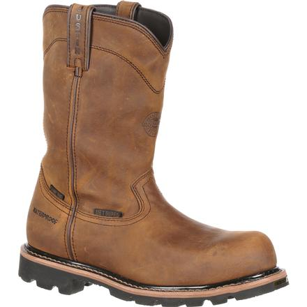 Justin Work Worker II™ Pulley Composite Toe Internal Met Guard Waterproof Western Work Boot