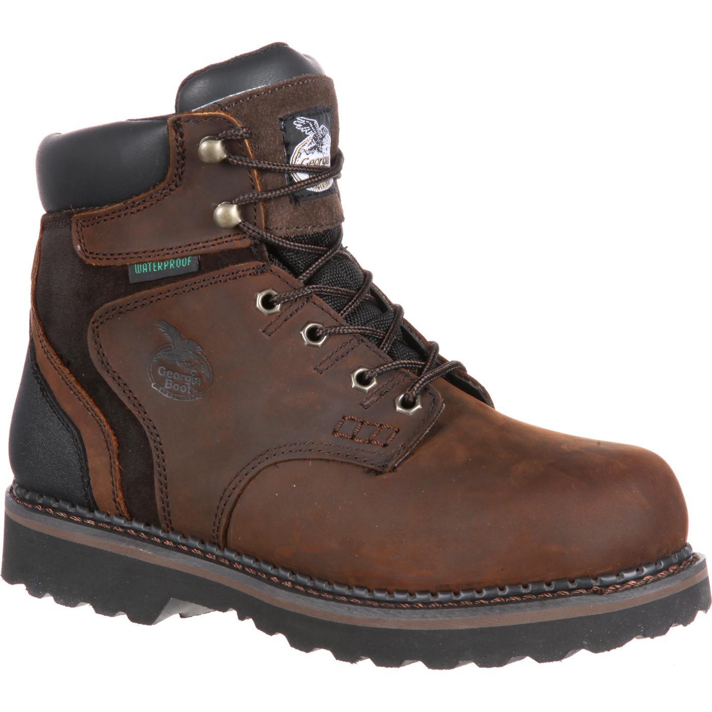 Steel Toe Waterproof Work Boot Georgia Brookville G7334
