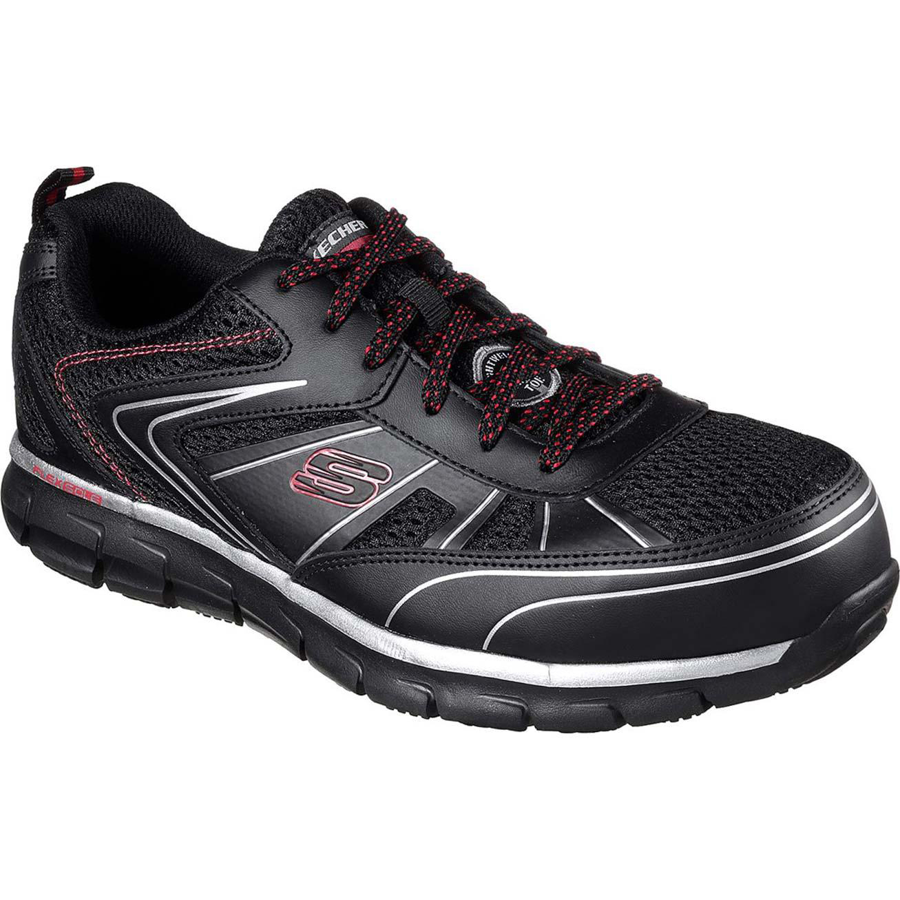 f24e4051c6e SKECHERS Synergy Fosston Alloy Toe Work Athletic Shoe