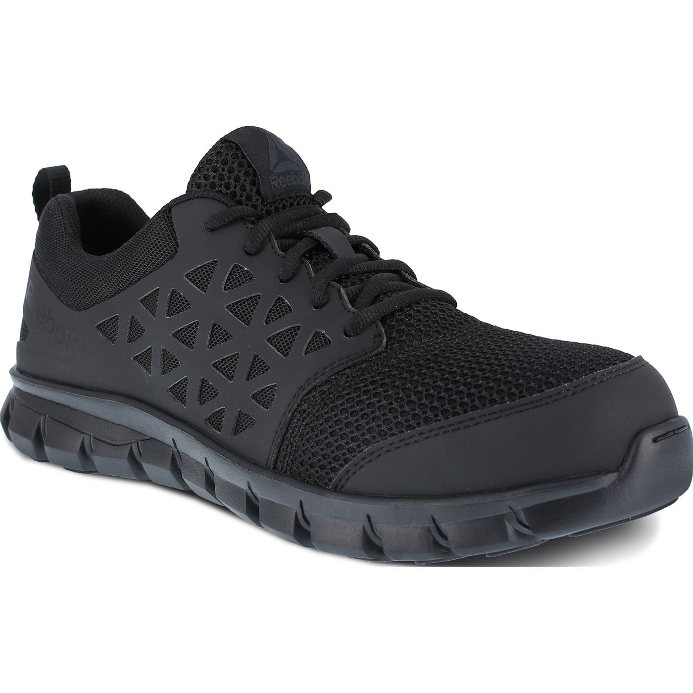 1176a8bdd6223 Reebok Sublite Cushion Work Men's Composite Toe Static-Dissipative  Slip-Resistant Work Athletic Shoe