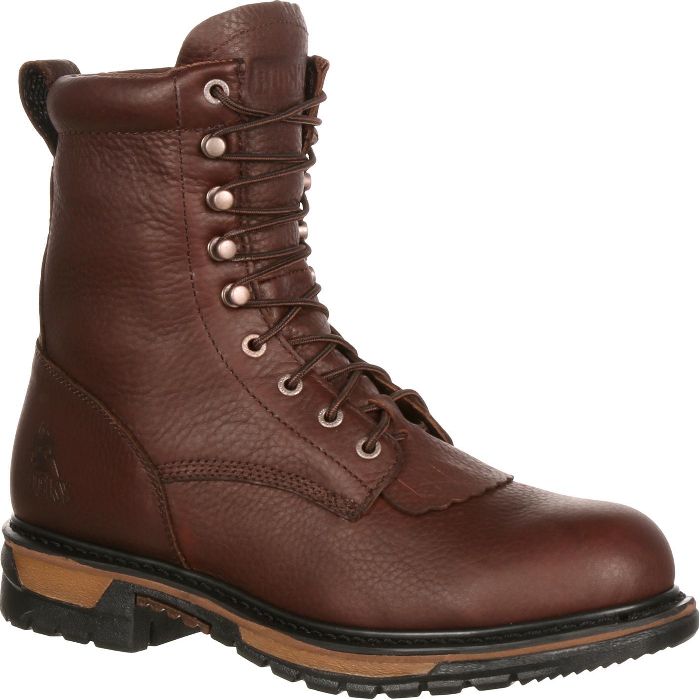 23304885dfd Rocky Original Ride Steel Toe Waterproof Lacer Western Boot
