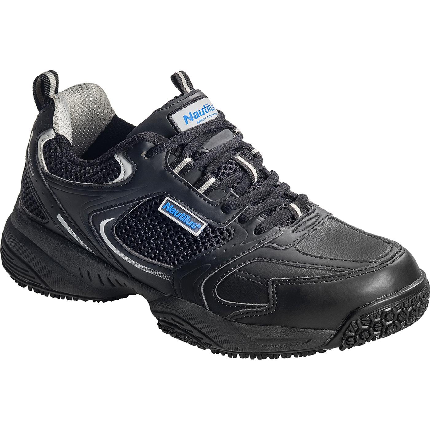 Men's Steel Toe Black Work Athletic Shoe, Nautilus N2111