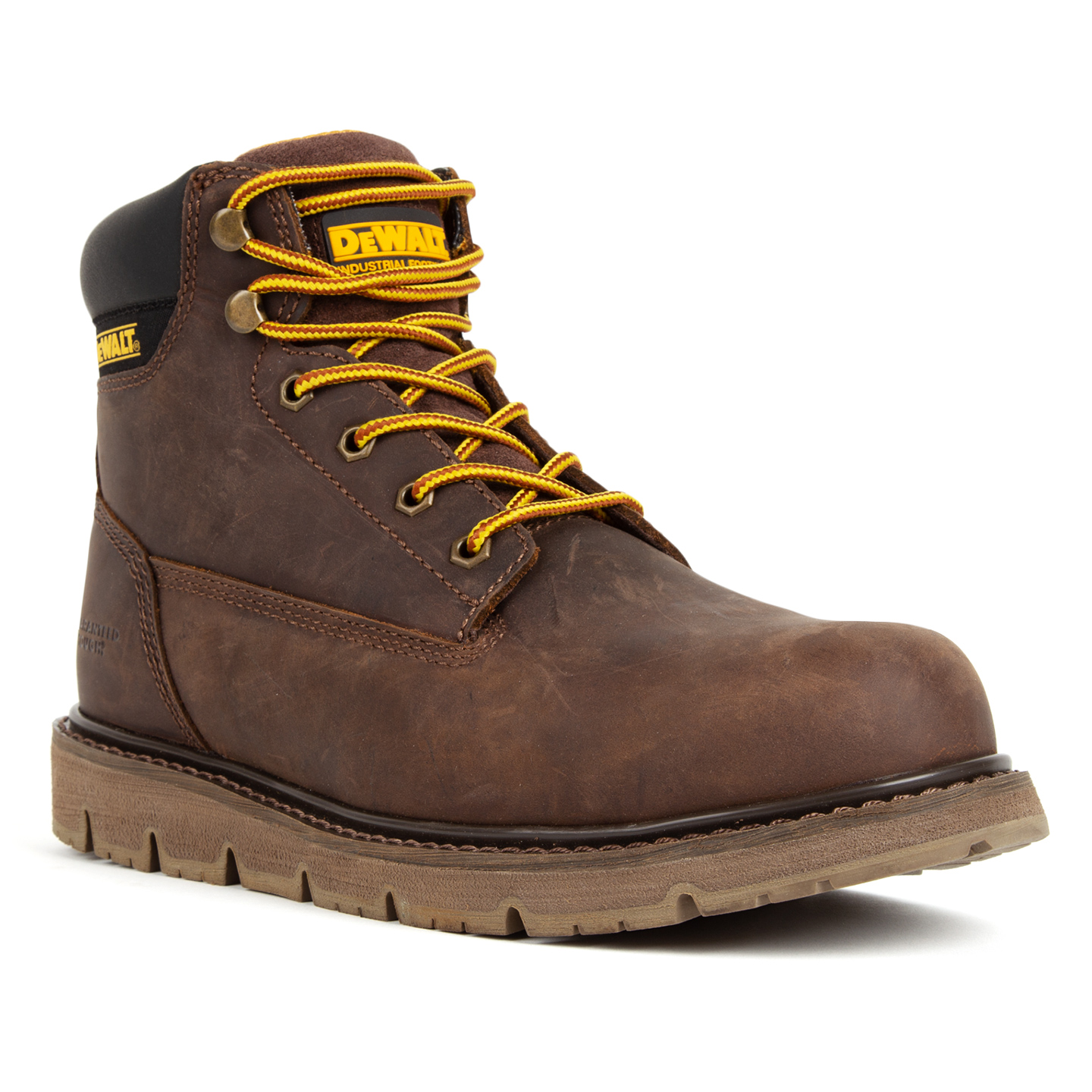 3c0783a6587 DEWALT® Flex Men s Steel Toe Brown Tie-Up Wedge Work BootsDEWALT® Flex Men s  Steel Toe Brown Tie-Up Wedge Work Boots