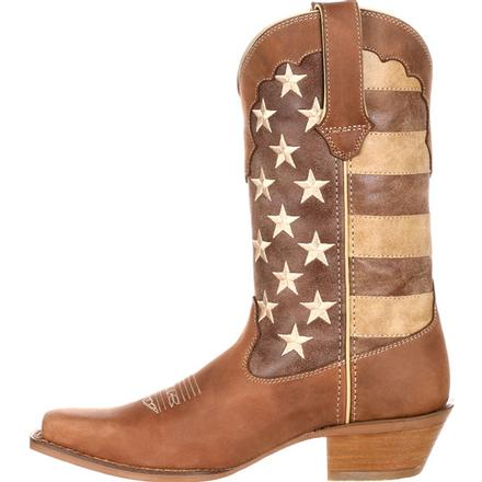 Crush™ by Durango® Women's Distressed Flag Boot, , large