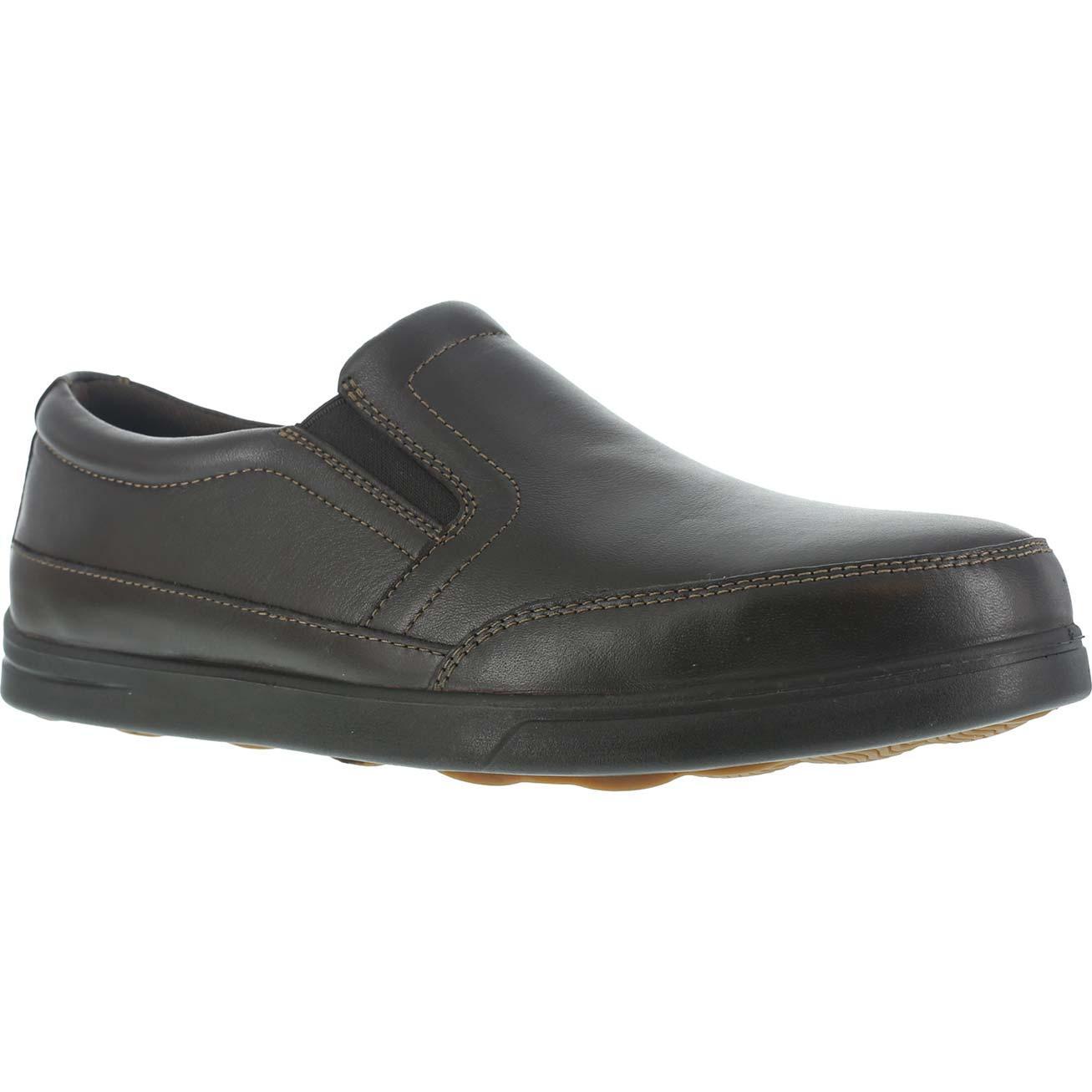 FLORSHEIM WORK Men's Stoss Steel Toe Oxford Work Shoes, Brown