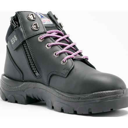 f7ba3cbd Steel Blue Parkes Zip Women's 5 inch Steel Toe Side Zip Leather Work Boot