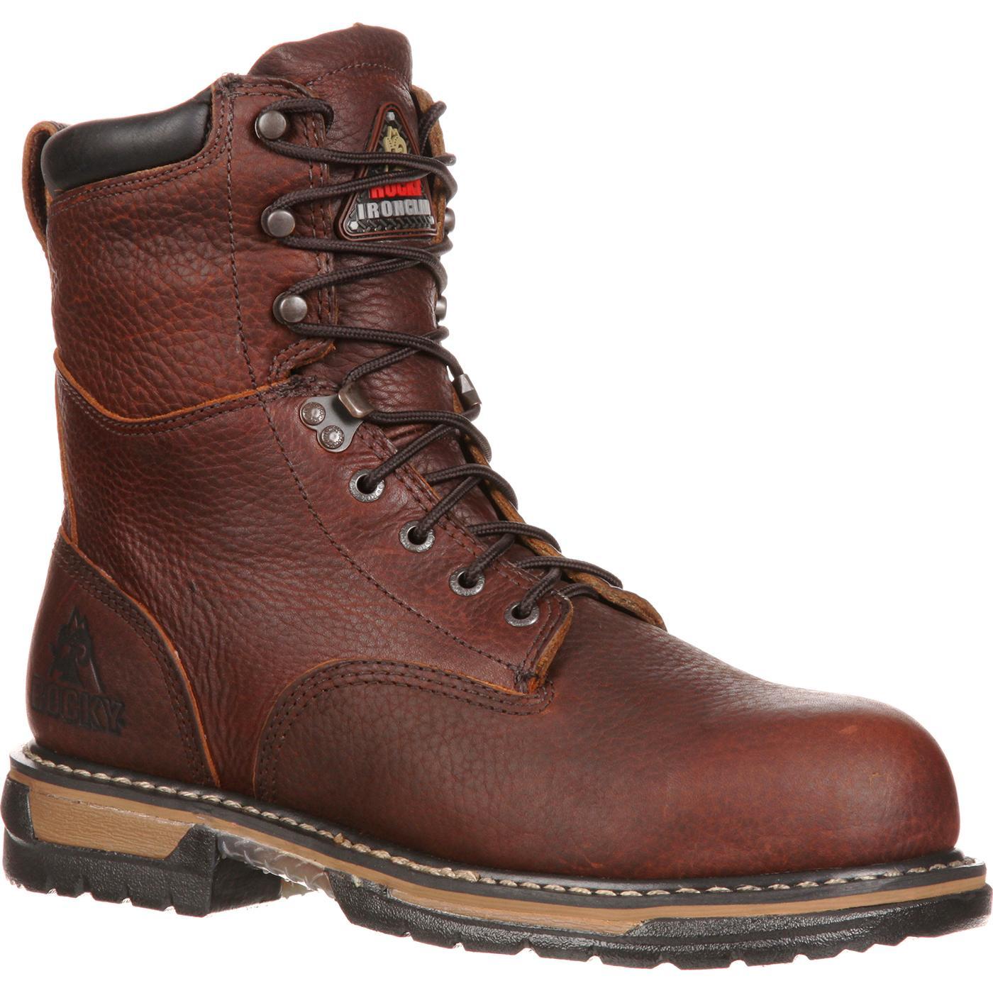 55458e32b6f Rocky IronClad Steel Toe Waterproof Work Boot