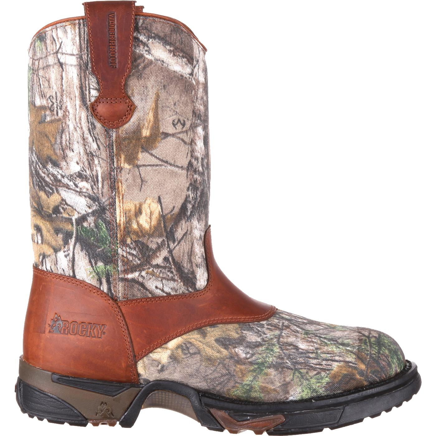 timeless design 100ef 3e0cc Rocky Aztec Waterproof Camo Pull-On Boots